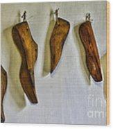 Shoe - Wooden Shoe Forms Wood Print