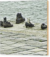 Shoes On The Danube Bank - Budapest Wood Print