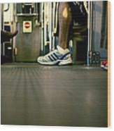 Shoes On The L Wood Print