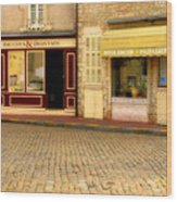 Shops In Beaune France Wood Print