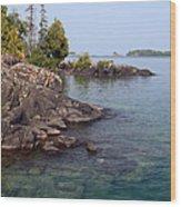 Shore Of Isle Royale Wood Print