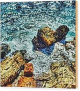 Shores Of The Aegean Wood Print