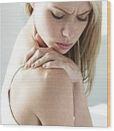 Shoulder Pain Wood Print