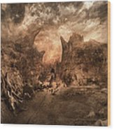 Shouting Valley Wood Print by Akos Kozari