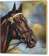 Show Horse Painting Wood Print