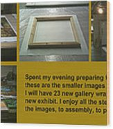 Show Preparations Wood Print