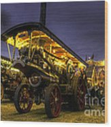 Showmans Engine By Night  Wood Print