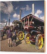 Showmans Engines At Dorset  Wood Print