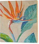 Showy Bird Wood Print