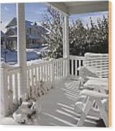 Showy Porch Wood Print