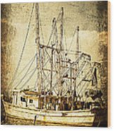 Shrimper Wood Print