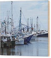 Shrimpers Row Wood Print