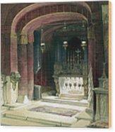 Shrine Of The Annunciation Nazareth Wood Print