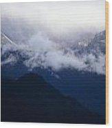 Shroud Mountain Peaks Wood Print