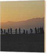 Shutterbugs At Sunset Wood Print