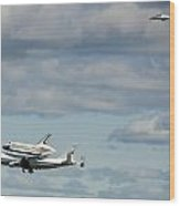 Shuttle Enterprise And Escort Wood Print