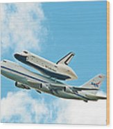 Shuttle Enterprise Comes To Ny Wood Print