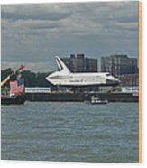 Shuttle Enterprise Flag Escort Wood Print