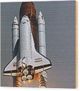 Shuttle Lift-off Wood Print