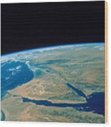 Shuttle Photograph Of The Middle East Wood Print by Nasa
