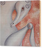 Shy 2008 Wood Print by Simona  Mereu