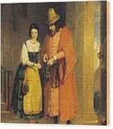 Shylock And Jessica From 'the Merchant Of Venice' Wood Print