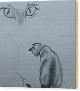 Siamese Cat Study Wood Print
