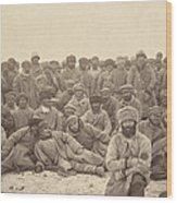 Siberia, A Group Of Hard-labor Wood Print