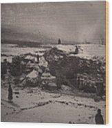 Siberia, Prison Guards Surrounding Wood Print by Everett
