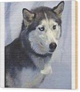 Siberian Husky 182 Wood Print