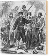 Sicily: Guerrillas, 1860 Wood Print