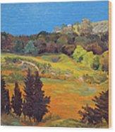 Sicily Landscape Wood Print