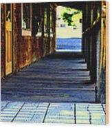 Side Walk Wood Print