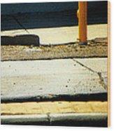Sidewalk Abstract Wood Print