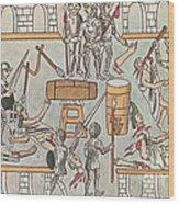 Siege Of Tenochtitlan, 1521 Wood Print