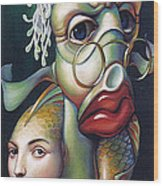 Siegfried And Koi Wood Print