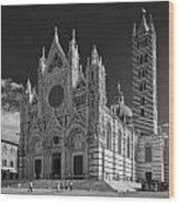 Siena Duomo Wood Print by Michael Avory