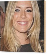 Sienna Miller, At Intermix At In-store Wood Print by Everett