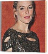 Sienna Miller Wearing A Balmain Dress Wood Print by Everett