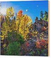 Sierra Nevada Fall Colors Lassen County California Wood Print by Scott McGuire