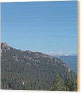 Sierra Nevada Mountains 3 Wood Print by Naxart Studio