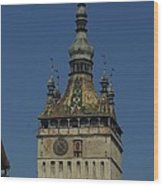 Sighisoara clock tower 1 Wood Print
