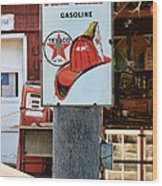 Sign - Fire Chief Gasoline Wood Print