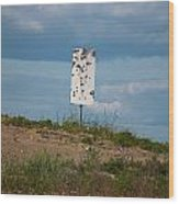Sign At The Gulf Of Bothnia Wood Print