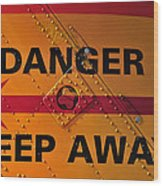 Signs Of Danger Wood Print