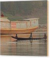 Silence On The Mekong Wood Print