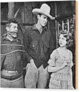 Silent Film: Cowboys Wood Print
