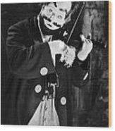Silent Film Still: Clown Wood Print