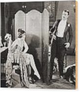 Silent Film Still: Legs Wood Print