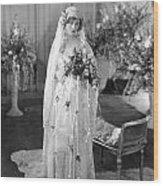 Silent Film: Wedding Wood Print